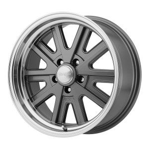 AMERICAN RACING 427 MONO CAST 17x8 5x114.30 MAG GRAY MACHINED LIP (0 mm)  VN52778012400