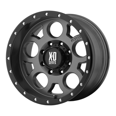 XD ENDURO PRO 18x9 6x139.70 MATTE GRAY W/ BLACK RING (18 mm)
