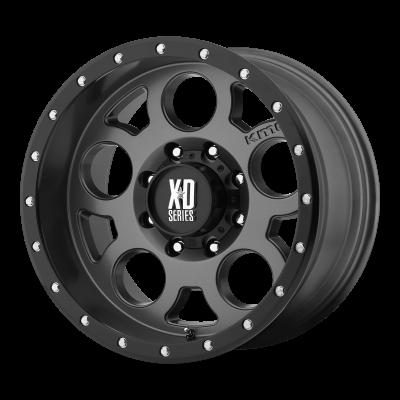 XD ENDURO PRO 18x9 6x139.70 MATTE GRAY W/ BLACK RING (18 mm)