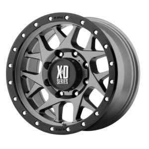 XD BULLY 17x8.5 8x165.10 MATTE GRAY W/ BLACK RING (0 mm)