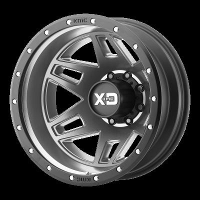 XD MACHETE DUALLY 17x6.5 8x210.00 MATTE GRAY W/ BLACK RING (-155 mm)