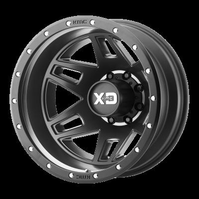 XD MACHETE DUALLY 17x6.5 8x210.00 SATIN BLACK (-155 mm)