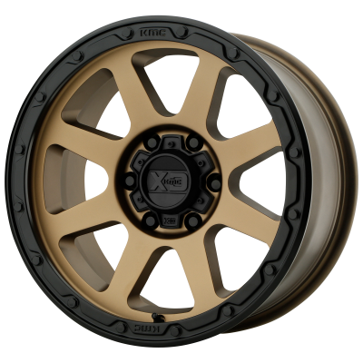XD ADDICT 2 17x8.5 8x165.10 MATTE BRONZE W/ MATTE BLACK LIP (0 mm)  XD13478580600