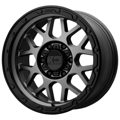 XD GRENADE OR 17x9 8x180.00 MATTE GRAY W/ MATTE BLACK LIP (18 mm)