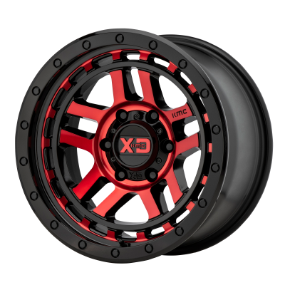 KMC RECON 18x8.5 6x139.70 GLOSS BLACK MACHINED W/ RED TINT (18 mm)  KM54088568918
