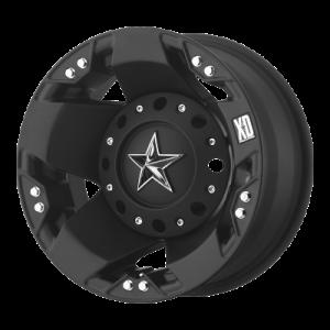 XD ROCKSTAR 17x6 8x200.00 DUALLY MATTE BLACK REAR (-134 mm)