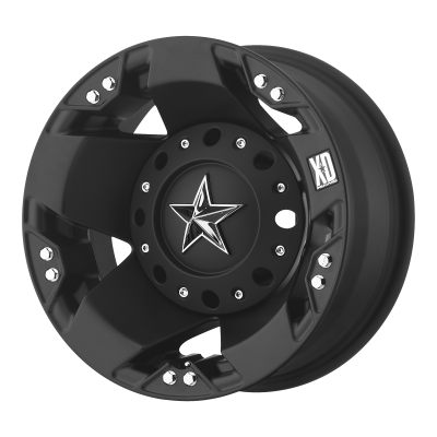 XD ROCKSTAR 17x6 8x200.00 DUALLY MATTE BLACK REAR (-134 mm)