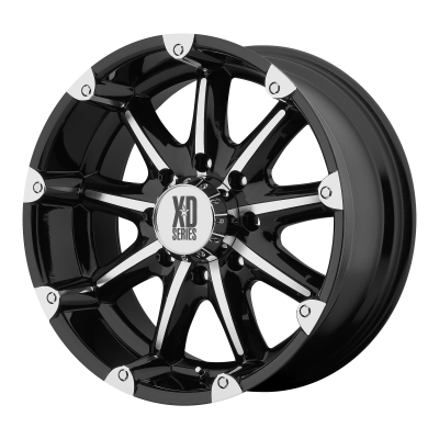 XD BADLANDS 18x9 8x170.00 GLOSS BLACK MACHINED (-12 mm)