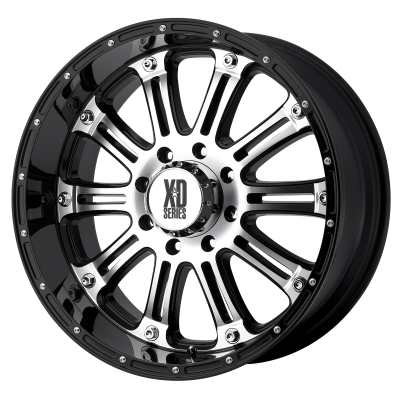 XD HOSS 18x9 8x170.00 GLOSS BLACK MACHINED (18 mm)