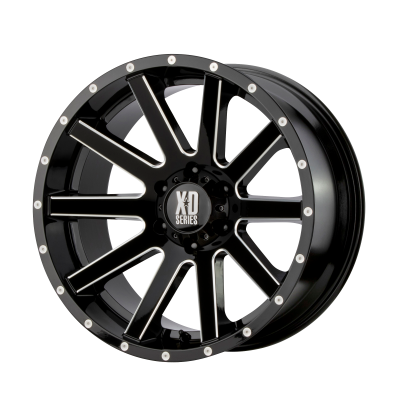 XD HEIST 17x9 6x139.70 GLOSS BLACK MILLED (30 mm)