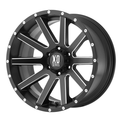 XD HEIST 17x8 5x120.00 SATIN BLACK MILLED (35 mm)  XD81878052935