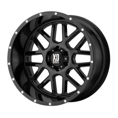 XD GRENADE 18x9 8x180.00 GLOSS BLACK (18 mm)