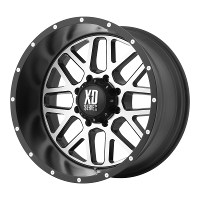 XD GRENADE 18x9 8x180.00 SATIN BLACK W/ MACHINED FACE (18 mm)