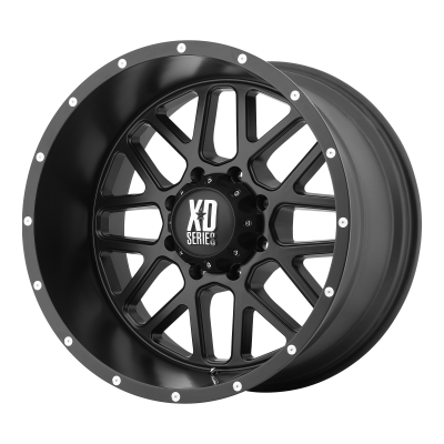 XD GRENADE 18x9 8x180.00 SATIN BLACK (18 mm)