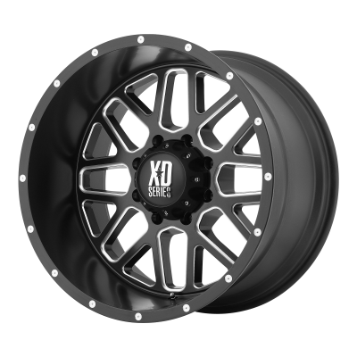 XD GRENADE 18x9 8x180.00 SATIN BLACK MILLED (18 mm)