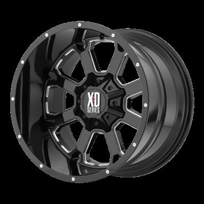 XD BUCK 25 20x9 8x180.00 GLOSS BLACK MILLED (18 mm)