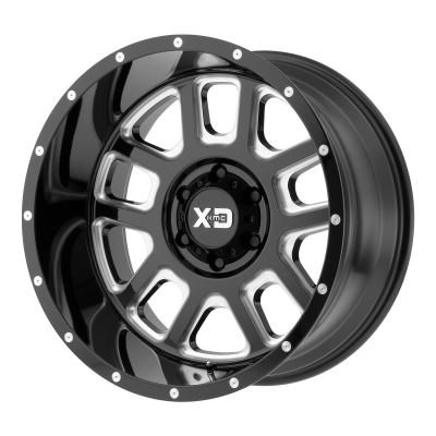 XD DELTA 20x9 8x165.10 GLOSS BLACK MILLED (0 mm)