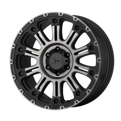 XD HOSS II 20x9 8x180.00 SATIN BLACK MACH W/ GRAY TINT (18 mm)