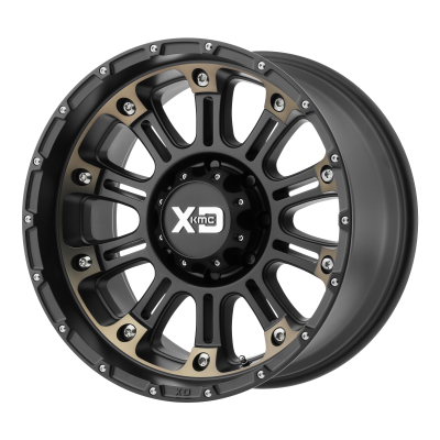 XD HOSS II 18x9 8x180.00 SATIN BLACK MACH W/ DARK TINT (18 mm)