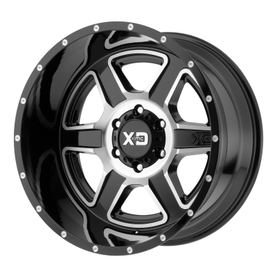 XD FUSION 20x12 8x180.00 GLOSS BLACK MACHINED (-44 mm)