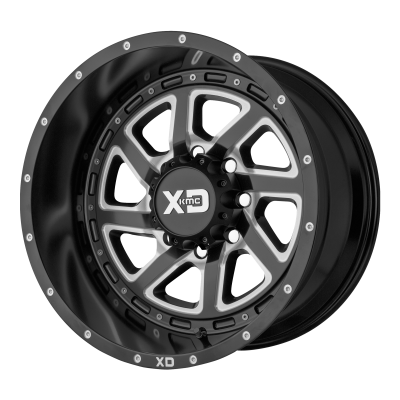 XD RECOIL 20x9 8x170.00 SATIN BLACK MILLED W/ REVERSIBLE RING (-12 mm)