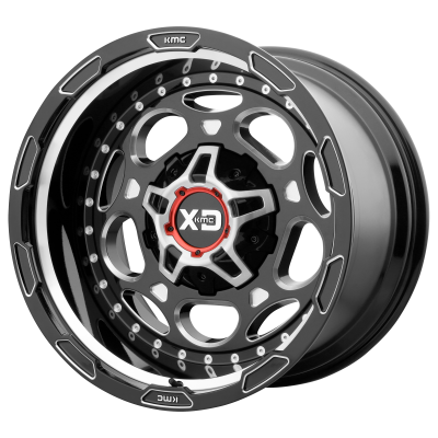 XD DEMODOG 20x9 8x180.00 GLOSS BLACK MILLED (18 mm)