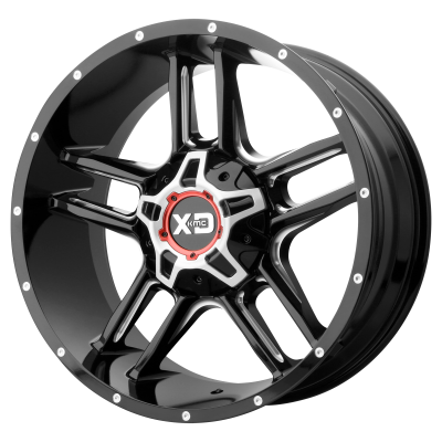 XD CLAMP 20x9 8x180.00 GLOSS BLACK MILLED (18 mm)