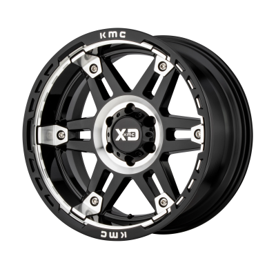 XD SPY II 20x9 8x180.00 GLOSS BLACK MACHINED (18 mm)