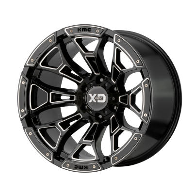 XD BONEYARD 20x9 8x180.00 GLOSS BLACK MILLED (0 mm)