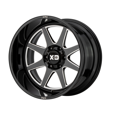 XD PIKE 20x9 8x180.00 GLOSS BLACK MILLED (18 mm)