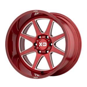 XD PIKE 20x9 8x180.00 BRUSHED RED W/ MILLED ACCENTS (18 mm)