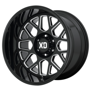 XD GRENADE 2 20x9 8x180.00 GLOSS BLACK MILLED (18 mm)