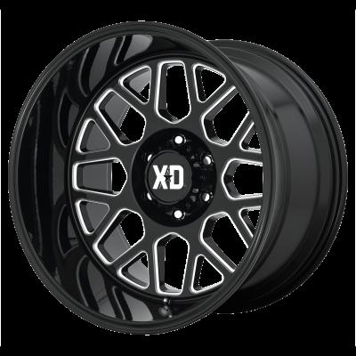 XD GRENADE 2 20x9 8x180.00 GLOSS BLACK MILLED (18 mm)