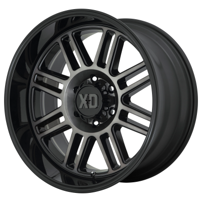 XD CAGE 20x9 8x180.00 GLOSS BLACK W/ GRAY TINT (18 mm)