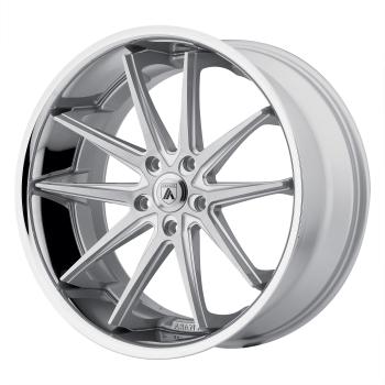 ASANTI ALTAIR 20x10 5x112.00 SILVER MACHINED W/ SS LIP (45 mm)  ABL5-20105645SL