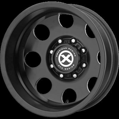 ATX BAJA DUALLY 17x6.5 8x210.00 SATIN BLACK - REAR (-140 mm)  AX204765897140N