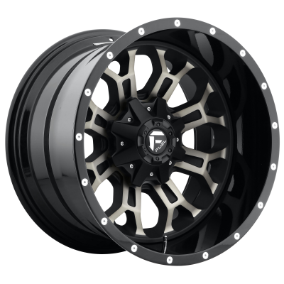 FUEL CRUSH 20x12 8x165.10 MATTE BLACK DOUBLE DARK TINT (-44 mm)  D26820208247