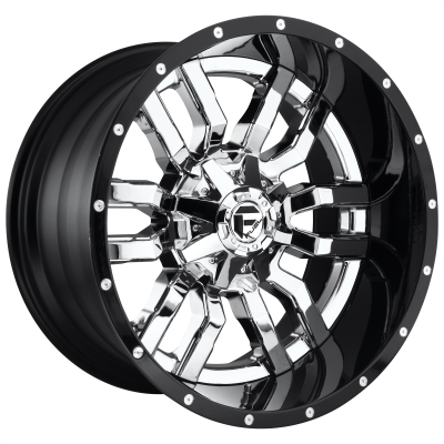 FUEL SLEDGE 22x10 6x135.00/6x139.70 CHROME PLATED GLOSS BLACK LIP (-13 mm)  D27022009850