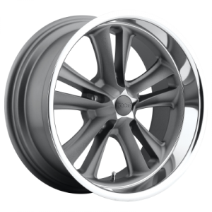 FOOSE KNUCKLE 18x9.5 5x114.30 MATTE GUN METAL MACHINED (1 mm)  F09918956552