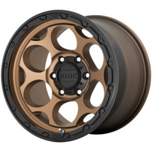 KMC DIRTY HARRY 18x8.5 6x139.70 MATTE BRONZE W/ BLACK LIP (18 mm)  KM54188568618